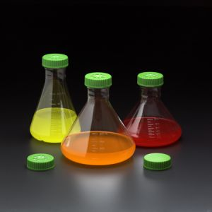 2L Fernbach Flask, Vent Cap, Baffled Bottom, Sterile